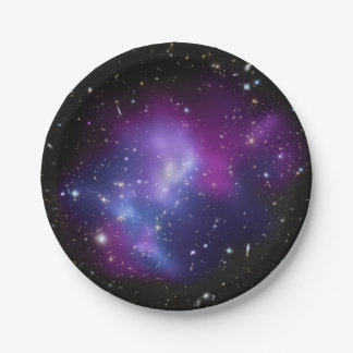 Purple Galaxy Cluster Paper Plate