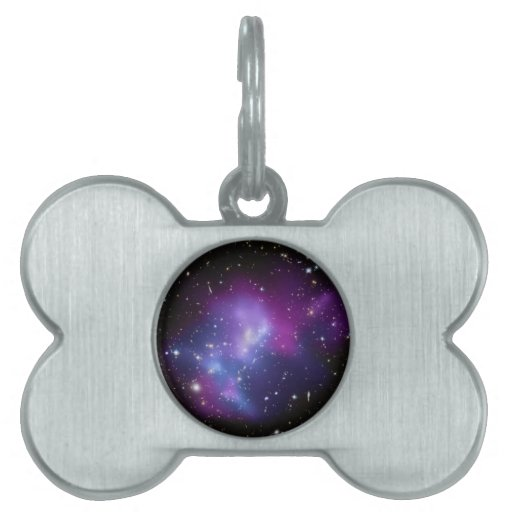 Purple Galaxy Cluster Pet Tag
