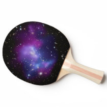 Purple Galaxy Cluster Ping-Pong Paddle