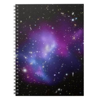 Purple Galaxy Cluster Spiral Notebook