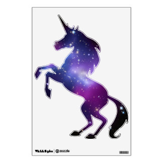 Purple Galaxy Cluster Unicorn Wall Skins