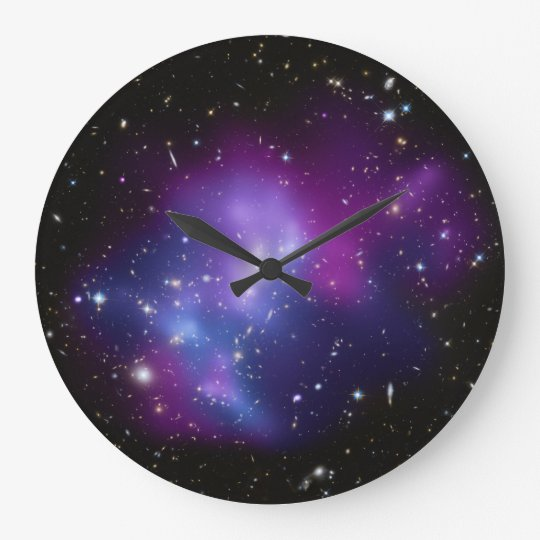 Purple Galaxy Cluster Wall Clock Zazzle Com