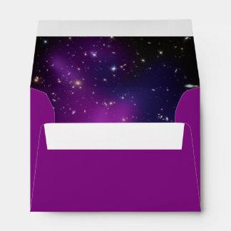 Purple Galaxy Cluster Wedding Envelope