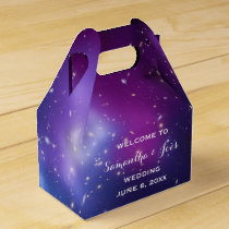 Purple Galaxy Cluster Wedding Welcome Favor Favor Box