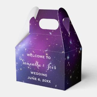 Purple Galaxy Cluster Wedding Welcome Favor Favor Box