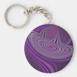 Purple Galaxy Design Keychains