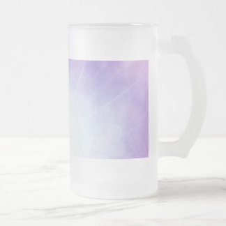 Purple Galaxy Frosted Glass Beer Mug