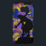 "Purple Galaxy Hula Dancer Samsung Galaxy S7 Case<br><div class=""desc"">Purple Galaxy Hula Dancer Silhouette,  from the Contemporary Art Collection,  is a cool one of a kind design. Originally hand painted acrylic on canvas.</div>"