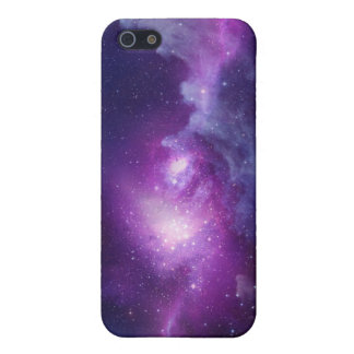 PURPLE GALAXY iPhone SE/5/5s COVER