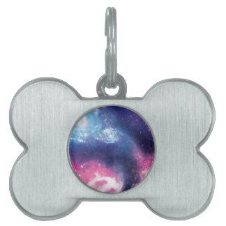 Purple Galaxy Pet ID Tag