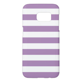 Purple Galaxy S7 Cases - Nautical Stripe