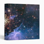 Purple Galaxy Starry Sky Supernova Astronomy Space 3 Ring Binders