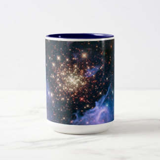 Purple Galaxy Starry Sky Supernova Astronomy Space Two-Tone Coffee Mug