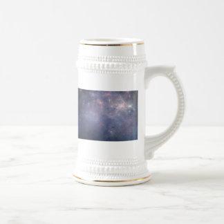 Purple Galaxy with Stars Beer Stein