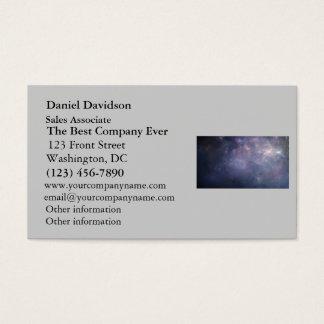 Purple Galaxy with Stars Business Card