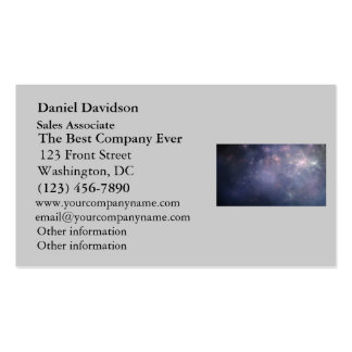 Purple Galaxy with Stars Business Card Template