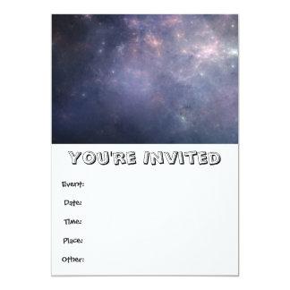 Purple Galaxy with Stars Card