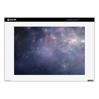 Purple Galaxy with Stars Decal For Laptop