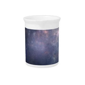 Purple Galaxy with Stars Drink Pitchers