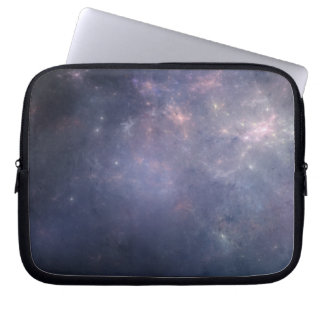 Purple Galaxy with Stars Laptop Computer Sleeves