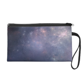 Purple Galaxy with Stars Wristlets