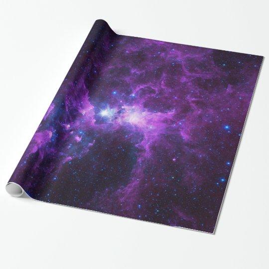 Purple Galaxy Wrapping Paper Zazzle Com