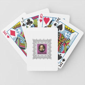 purple galileo bicycle playing cards