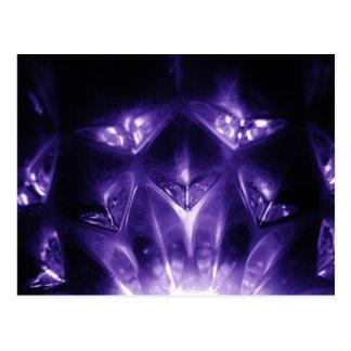 Purple galss postcard