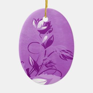 Purple Garden Floral Ceramic Ornament
