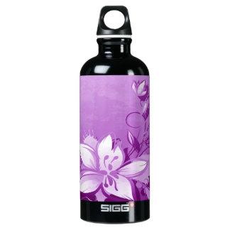 Purple Garden Floral Water Bottle