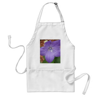 Purple garden flower adult apron