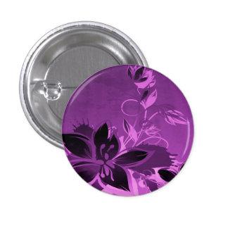 Purple Garden Flowers 1 Inch Round Button