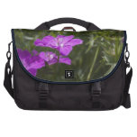 purple garden flowers, floral photography. bag for laptop