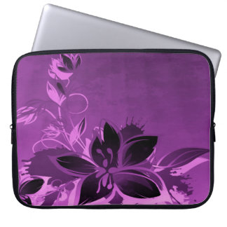Purple Garden Flowers Laptop Computer Sleeves