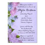 Purple Garden Lilac Flowers Bridal Shower Card