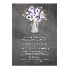 Purple Garden Mason Jar Chalkboard | Wedding 5