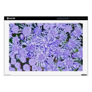 Purple garden of mums laptop skins
