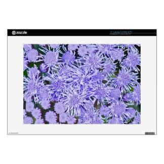 "Purple garden of mums skins for 15"" laptops"