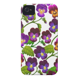 Purple Garden Pansies Blackberry Bold Case