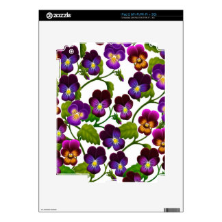Purple Garden Pansies Zazzle Skin Skins For The iPad 2