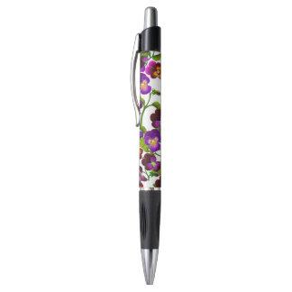 Purple Garden Pansy Flowers Pen