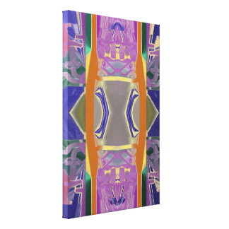 Purple Gardens Abstract Canvas Print