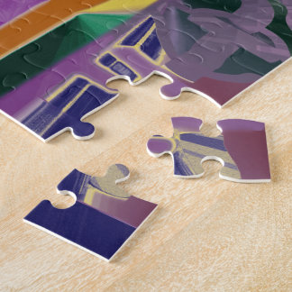 Purple Gardens Abstract Jigsaw Puzzle