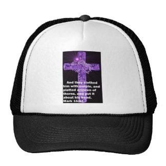 Purple Garment Trucker Hat