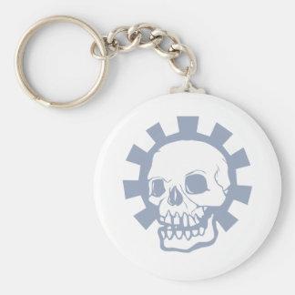 Purple Gear Skull Keychain