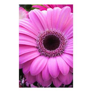 Purple Gebera Flower Personalized Stationery