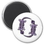 Purple Geckos Totem Magnet