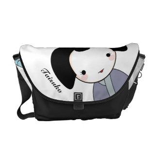 Purple Geisha Messenger Bag
