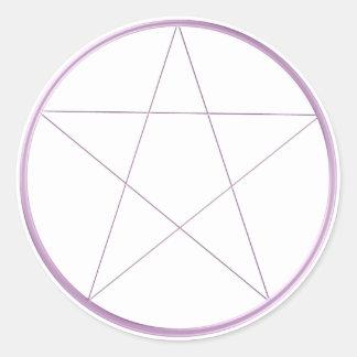 Purple Gel Pentacle Classic Round Sticker