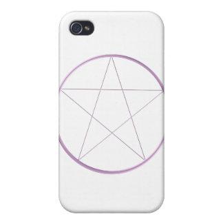 Purple Gel Pentacle iPhone 4 Covers